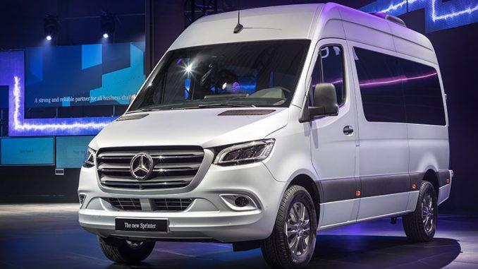 El Sprinter de Mercedes Benz en el show de Alemania